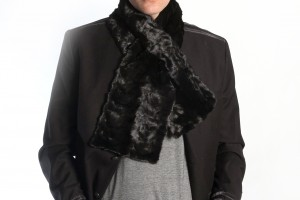 Fur is back in fashion! Also men wear real fur scarves