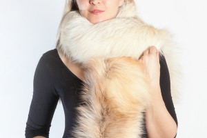 A fur scarf is a universal accessory during the cold season.