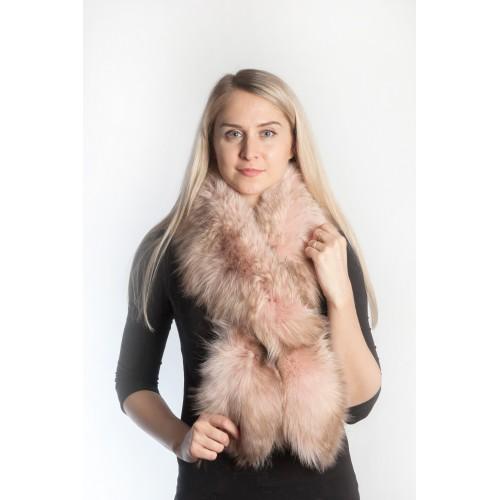 Stylish Pink Fox Fur Scarf  aa12b910f38b