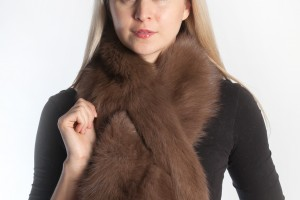 Real fur scarf to be fashionable during winter