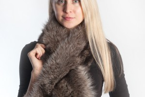 Real fur scarves online store